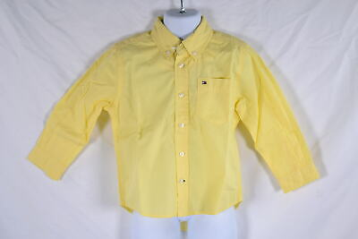 Toddler Boy's Tommy Hilfiger Long Sleeve Classic Woven Shirt in Yellow