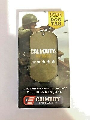 Call Of Duty World War 2 WWII Limited Edition Dog Tag  BRAND NEW!