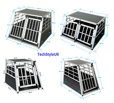 BEST Dog Pet Puppy Aluminium Cage Transport Crate Car Travel Carrier Box Kennel