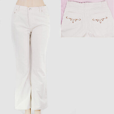 3028156b907 New 10 VICTORIAS SECRET Button Fly Bootcut Cords Womens Corduroy Pants Cream