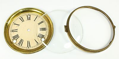 """ANTIQUE 5-5/8"""" CLOCK DIAL PAN, and BEZEL with GLASS - SP53"""