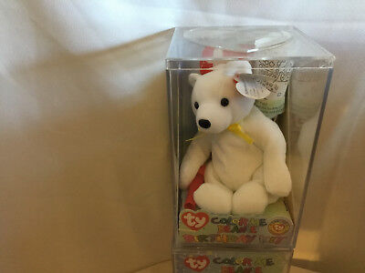b142189105c TY Color Me Beanie Birthday Kit New In Box BEAR WITH COLORED RIBBON 4  AVAILABLE
