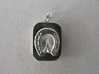 Small Antique Sterling Silver Locket Horseshoe Birmingham Jackson Brothers