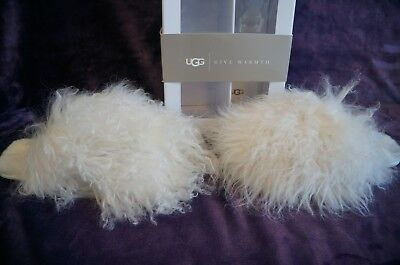 22fce1b199a UGG FLUFF MOMMA MONGOLIAN CLOG / SLIPPERS , US 7 Womens, Color:WHITE  1019726HBX