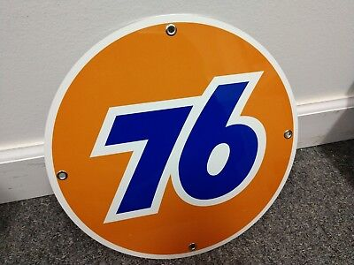 Union 76 Gas company Oil gasoline sign ..FREE ship on 10 signs