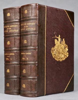 """1878 Complete History of the United States of America Leather Illustrated 11""""x8"""""""
