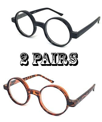 1864a556cf65 2 Pair Combo READERS Lightweight Round JOHN LENNON VINTAGE Style READING  GLASSES