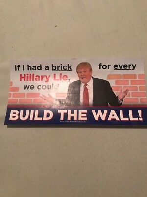 BUILD THE WALL TRUMP STICKERS  Anti Hillary Brick for every Lie Liar