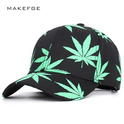 Cap Unisex Baseball Adjustable Cotton Marihuana