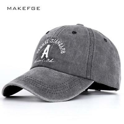 Cap Unisex Baseball Adjustable Cotton Letters