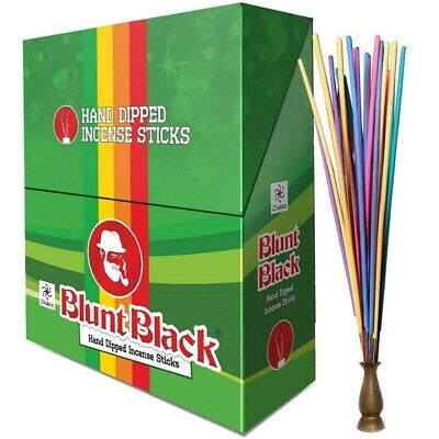 Chakra Blunt Black Hand Dipped Incense Sticks -72 Pouches Inside (72x12=864)