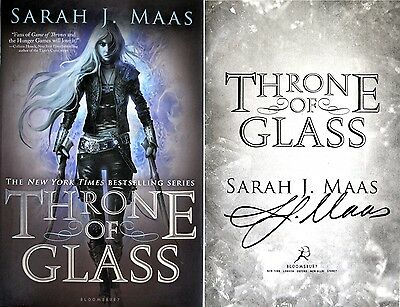 Sarah J Maas~SIGNED~Throne of Glass~1st Edition HC + Photos!