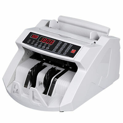 Money Bill Counter Machine Cash Counting Counterfeit Detector UV MG Bank Checker