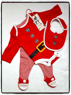 MOTHERCARE Father Christmas 3 piece Outfit up to 3 months 14.5lbs - 6.5g BNWT