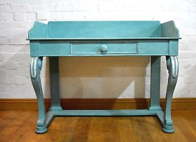 Antique Victorian painted washstand - console table - desk - dressing table