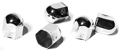 "nut covers(5) 7/16"" standard chrome steel 5/8"" tall Pete Freightliner Kenworth"