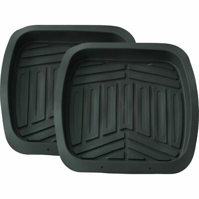 Ridge Ryder Deep Dish Car Floor Mats - Black, Rear, 2 Pack