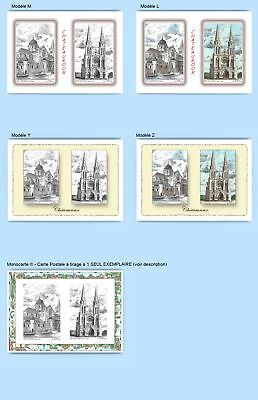 Cp Cpa Cpm Cpsm 4 Cartes Postales Diff. + 1 Monocarte 36005-36011 Chateauroux