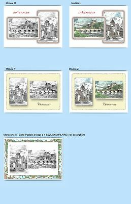 Cp Cpa Cpm Cpsm 4 Cartes Postales Diff. + 1 Monocarte 36005-36009 Chateauroux