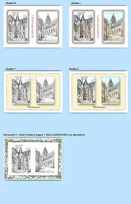 Cp Cpa Cpm Cpsm 4 Cartes Postales Diff. + 1 Monocarte 36061-36157 Chateauroux