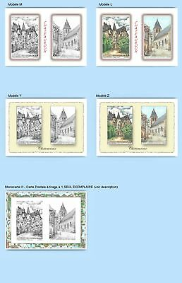 Cp Cpa Cpm Cpsm 4 Cartes Postales Diff. + 1 Monocarte 36062-36157 Chateauroux