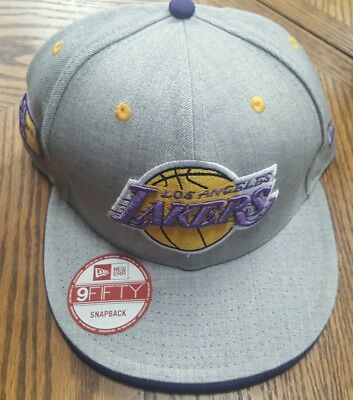 sale retailer 821e2 4002b Brand New New Era 9Fifty Los Angeles Lakers Snapback Hat Tags FITS ALL Cap