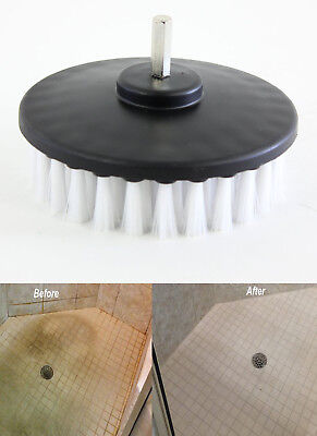 SOFT Drill Brush For Car Valeting Tile Grout Bathroom Carpet Leather Glass Metal