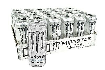Monster Energy Drink Zero Ultra Multipack Cans 24 x 500mL Pack