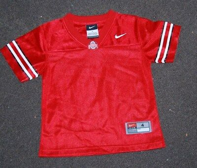 f7ffe347f Ohio State Buckeyes NCAA Nike Youth Practice Football Jersey Size 8 10 Red  (j