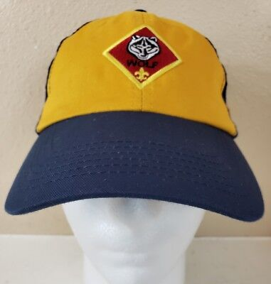 CUB SCOUT WOLF Hat Cap BSA Youth Adjustable S M Adjustable - Free ... ca5f06eb28ee