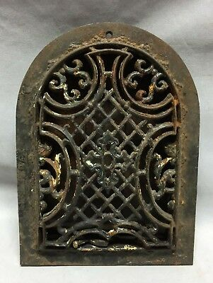 Antique Arched Top Heat Grate Maltese Cross Gothic Arch 7X10 165-19C