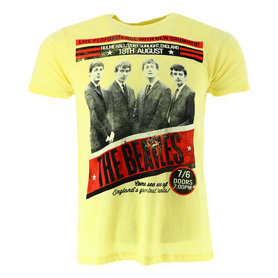 The Beatles New Drummer Hulme Hall Men's T-shirt Yellow Official Licensed Music