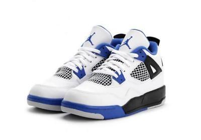 5bacbb6f3fc Air Jordan 4 Retro BP   308499 117 Motorsport White Blue Pre School Sz 11 -