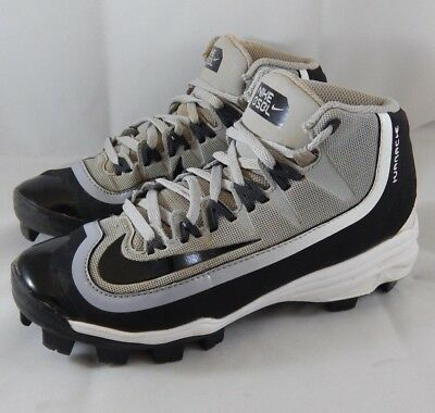 4aacea738055 Nike Huarache 2KFilth MCS Pro Mid Baseball Cleats Size 4Y Black Grey White  Youth