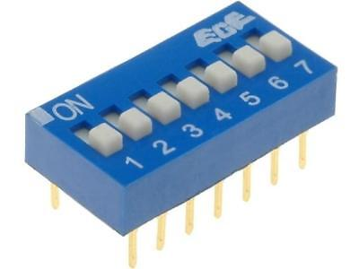 EDG107S Switch DIP-SWITCH Poles number7 ON-OFF 0.1A/24VDC -25÷70°C ECE
