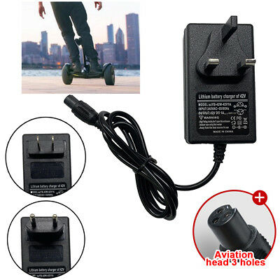 42V 2A Power Adapter Charger For 2 Wheel Self Balancing Hoverboard Scooter Cord#