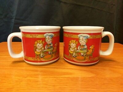 2 Campbells Soup Mug 1998 Houston Harvest -  Red Kids Tea Party Coffee/Soup Cup