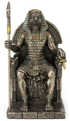 Horus Egyptian God Sitting On Throne Statue Sculpture Figurine WE SHIP WORLDWIDE