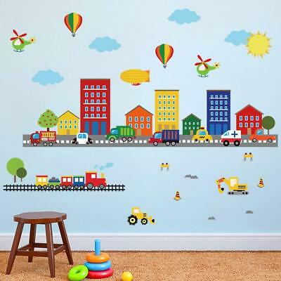 DECALMILE TRANSPORTS STICKERS Muraux Enfant Autocollants Mural ...