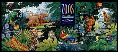 Zoo in Australien. Elefanten,Gepard,Tiger und and. Tiere.Block. Australien 1994