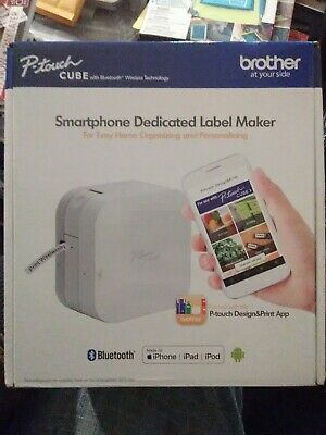 Brother P-Touch Cube Smartphone Label Maker Bluetooth Wireless PT-P300BT