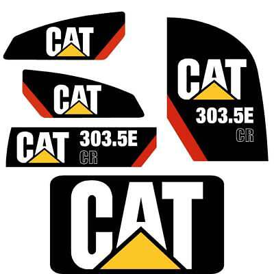303.5E  CR Decals Stickers repro Kit  Cat 303.5E CR Decals