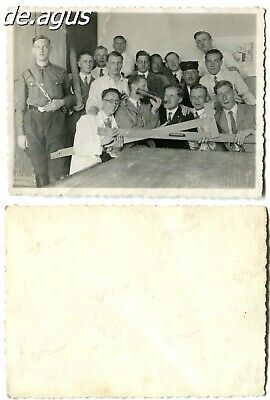 Photo 1930s young men students,young german soldier posing , funny man with beer