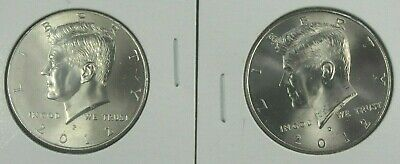 2012 P&D KENNEDY HALF DOLLARS TWO COINS SET FROM MINT BAGS or ROLLS UNCIRCULATED