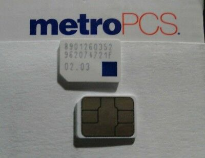 New Metro Pcs Nano 4Ff Gsm Sim Card For New & Existing Service  And Replacement