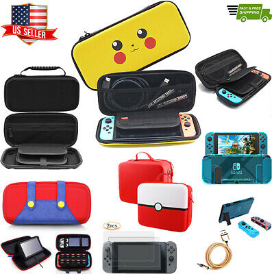 Nintendo Switch Travel Carry Case Pikachu Pokemon Carrying Bag Accessories +More