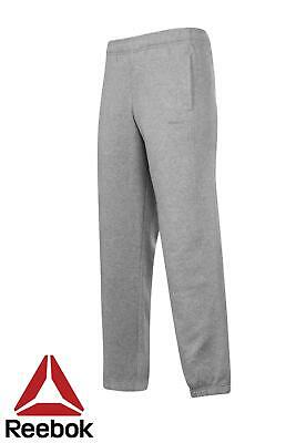 Reebok Core Cuff Sweat Pants Mens Grey Track Tracksuit Casual Bottoms