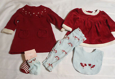 GYMBOREE Snow Birds Baby Girl Red Velour Swing Top Long Sleeve New NWT