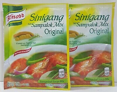 2 x Knorr Original Tamarind Soup Sinigang Sa Sampalok Asian Sour Soup Mix 40g