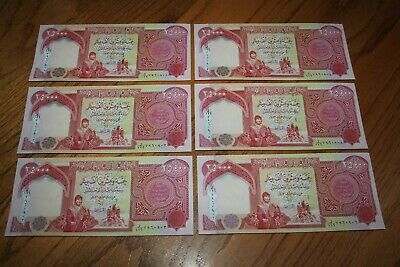 150,000 IQD - (6x) 25,000 IRAQI DINAR Notes - AUTHENTIC UNCIRC - FAST DELIVERY